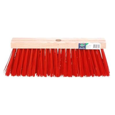 Bezem 35cm rood